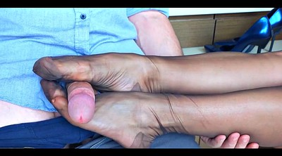 Footjob, Nylon foot, Nylon footjob, Femdom feet, Nylon feet, Footjob nylon
