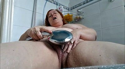 Mature bbw, Mature shower