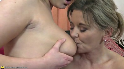 Moms, Young and old, Old and young, Lesbian fuck, Young mom