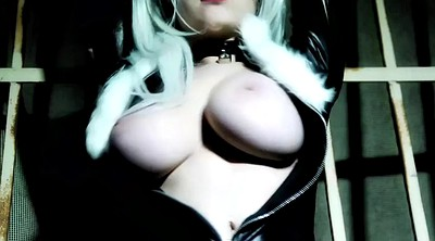 Cosplay, Big black tits, Black cat
