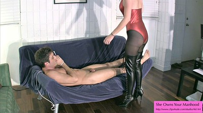 Boots, Femdom pantyhose