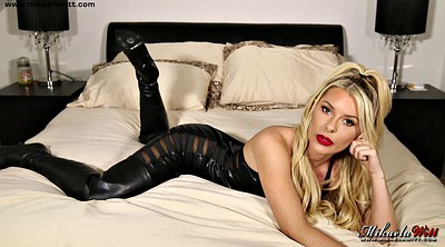 Leather, Wear, Leather solo, Cute blonde