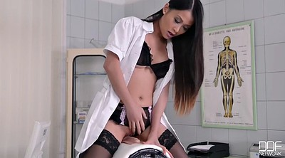 Asian nurse, Uniform, Sybian, Anal orgasm, Asian uniform, Asian lingerie