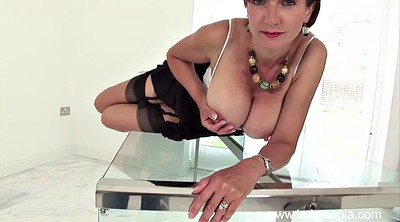 Mature solo, Table, Mature tease