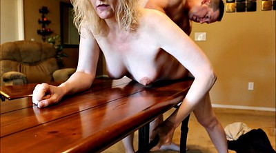 Table, Spanked, Mature wife, Mature fuck