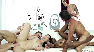 Group sex orgy, Pussy lick, Lick pussy, Licking, Interracial orgy