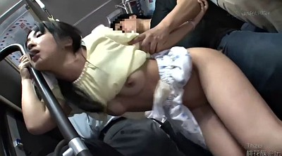 Bus, Japanese bus, Japanese handjob, Molested, Japanese throat, Japanese pee