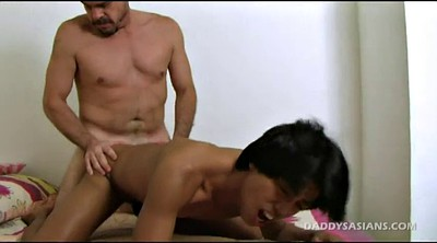 Kissing, Old and young, Young gay, Hunter, Asian feet, Old and young gay