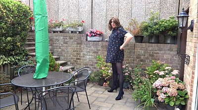 Crossdress, Alison, Garden, Crossdressing, Amateur crossdresser