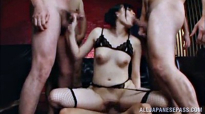 Asian gangbang, Stockings, Asian stockings, Asian fishnet