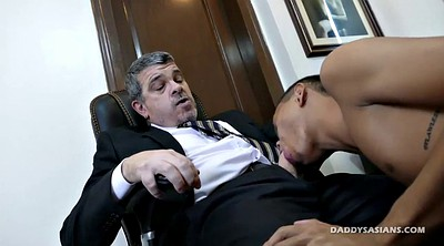 Asian office, Gay dad, Asian secretary, Old gay