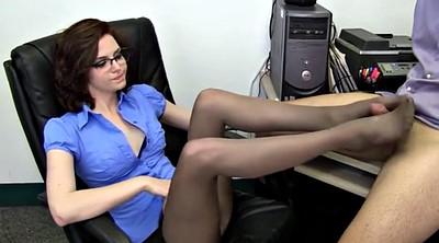 Pantyhose, Job, Pantyhose feet, Foot job