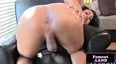 Ebony shemale, Gape, Shemale solo, Black shemale