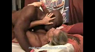 Amateur granny, Granny interracial