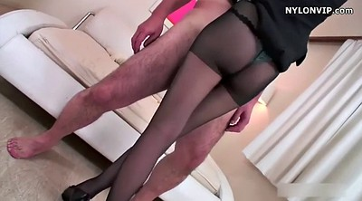 Pantyhose, Nylon, Nylon feet, Pantyhose feet, Nylon footjob, Japanese black