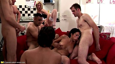 Squirt, Mom boy, Young boy, Mature squirt, Mature gangbang, Old mom