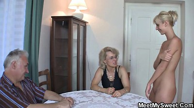 Young girl, Mature threesome, Mature young, Granny threesome, Couple threesome
