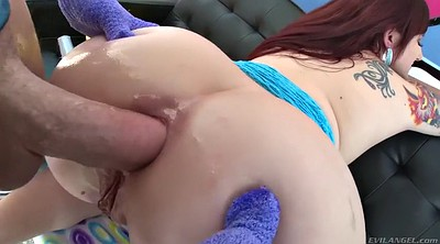 Oiled anal, Gaping