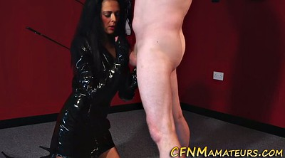 Cfnm, Leather, Dominatrix, Tugging, Tug