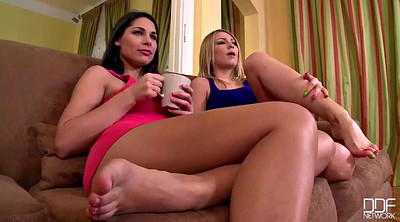 Brandi, Lesbian foot, Threesome foot