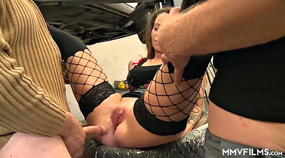 Anal threesome, Mechanic, Whore anal, Garage, Anal whore