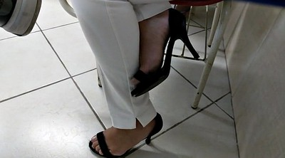 Hidden cam, High heels, High, Brazilian feet