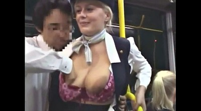 Bus, Groped, Grope, Groping, Big mature