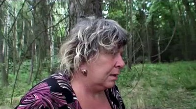 Bbw, Chubby mature, Granny outdoor, Forest