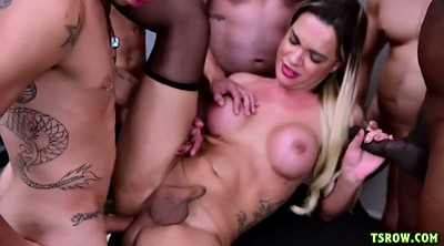 Transsexual, Shemale gangbang