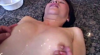 Granny, Japanese mature, Japanese granny, Asian granny, Japanese dildo, Bathroom