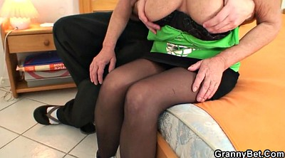 Young boy, Pick up, Milf stocking, Pick, Granny stocking