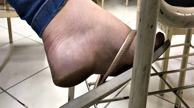Caught, Teen feet, Flats, Teen foot, Sole