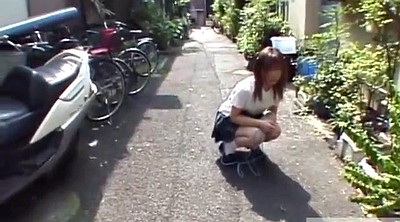 Japanese teen, Jumping, Rope, Jumping rope, Japanese schoolgirl, Japanese outdoor