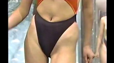 Retro, Tv show, Showing, Japanese tv, Asian gym, Swimsuit