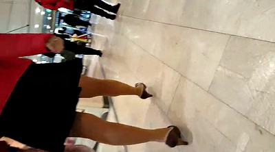 Upskirt, Skirt, Nylons, Walking, Stairs
