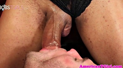 Gay, Man, Cum in mouth, Tgirl