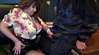 Nylon, Leather, Leather milf, Nylons milf, Milf boss