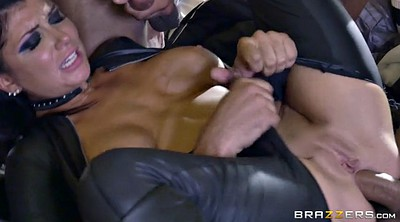 Boots, Gloves, Double blowjob, Triple penetration, Romi rain