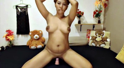 Milk, Asian, Lactation, Lactating, Asian dildo, Asian dildo solo
