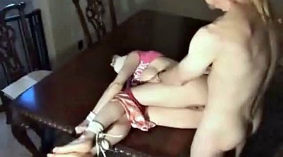 Bound, Table, Foot gagging