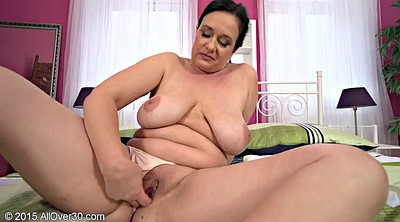 Chubby solo, Short hair, Shaving, Mature orgasm
