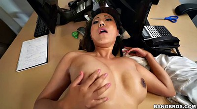Asian black, Asian big black cock, Boss, Big ass big tits