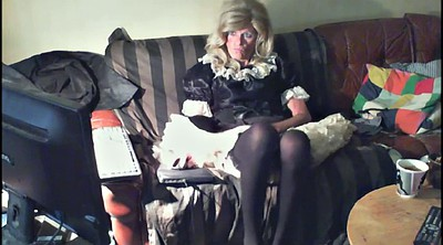 Crossdress, Slut solo, Pantyhose masturbation, Crossdressing, Mature pantyhose, Solo girl
