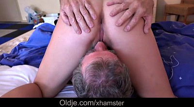 Older, Teen swallow, Older granny, French granny, Bj swallow