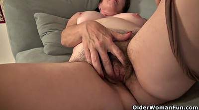 American, Pussy rub, Hairy mature
