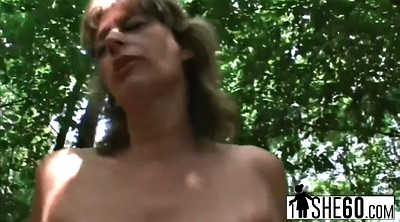 Granny mature, Top, Jump, Granny outdoor