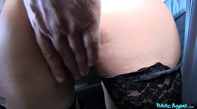 Ebony creampie, Car fuck