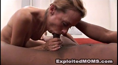 Mom, Big blonde mom, Mom handjob, Mature mom, Leigh, Exploited