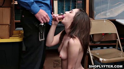 Office, Shoplifter, Shoplifting, Teen blowjob