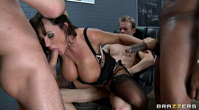 Lisa ann, Crazy, Gang bang, Prisoner, Prisoners, Hairy group